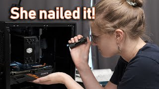 She builds her FIRST ever gaming PC!