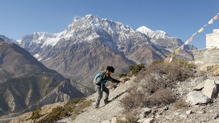 11-year old boy climbs Thorong La 5,416m/17,769ft -  Fun on the Annapurna Circuit trek, Nepal