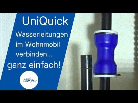 UniQuick | Wasserleitung verbinden | Wohnmobil | DIY | Lucky Camper
