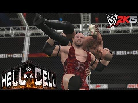 WWE 2K15 Hell In A Cell Ryback y CM Punk en la celda Infernal por el Titulo de la WWE