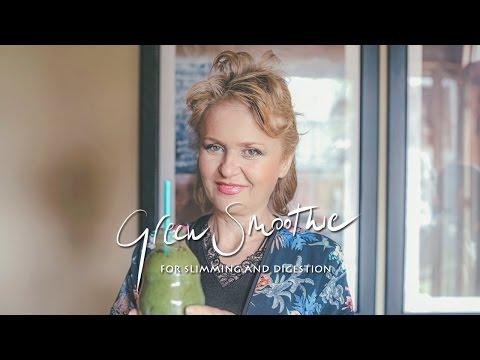 Zeleni kašasti sok za probavu i mršavljenje