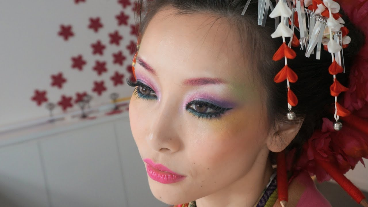 Coloful Geisha Look Makeup Amp Hair Tutorial How To Wear
