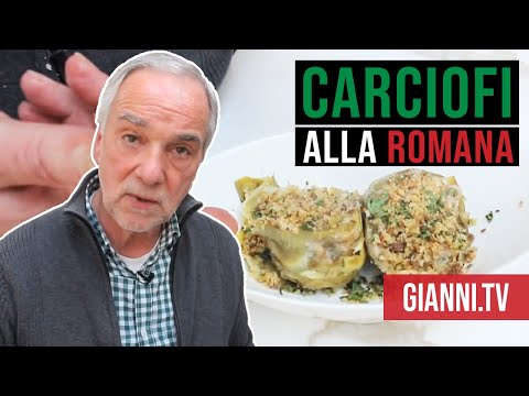 Carciofi alla Romana - Roman style artichokes (Italian recipe)