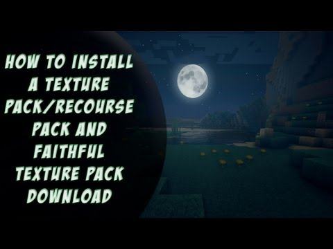 HOW TO INSTALL RESOURCE PACK/TEXTURE PACKS FOR MINECRAFT 1.7.2 EASY/FAITHFUL 64x