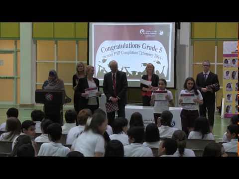 Xianelle receives the Academic Achievement Award in Qatar Academy