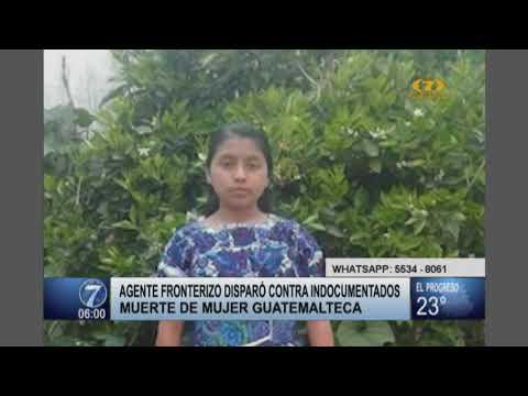 Agente fronterizo de Estados Unidos disparó contra migrante indocumentada