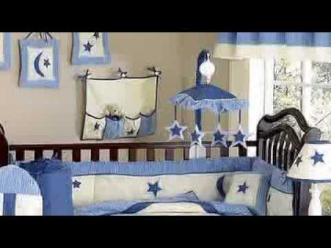 0 Stars and Moons Boy Crib Baby Bedding Set by JoJo Designs