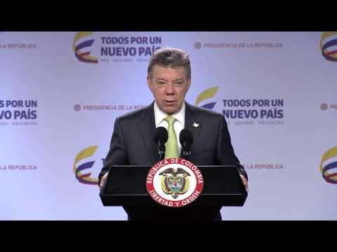 Declaración del Presidente Juan Manuel Santos sobre Cambios en el Gabinete Ministerial
