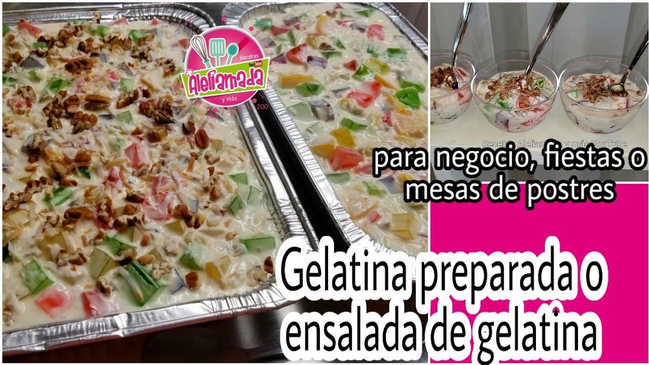 Gelatina Con Crema Receta Gelatina Con Yogurt y Crema