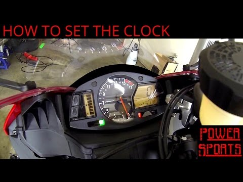 How To Set The Clock On A Honda CBR600RR