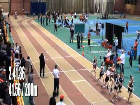 Quebec indoor championship 2012 - 1200m midget girls