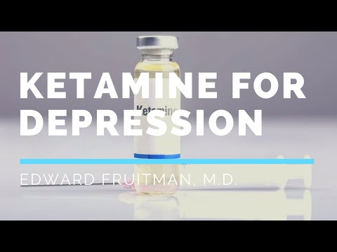 Ketamine for Depression - Doctor Fruitman, M.D.