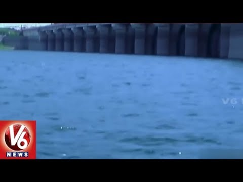 Srisailam Water Level Increases After Inflows From Upstream | V6 News