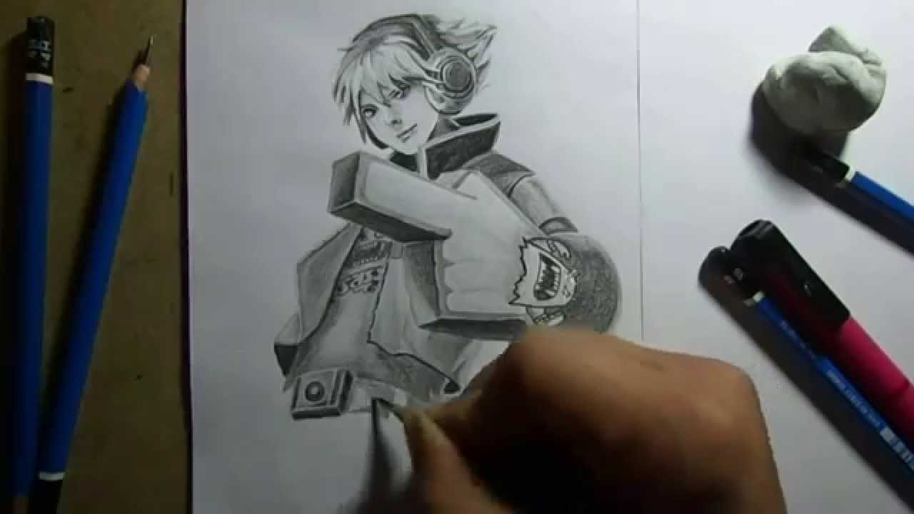 Ezreal Lol Drawing Pencil Drawing Tpa Ezreal