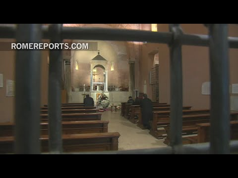 Pope Francis attends the wake of a Vatican employee