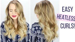 Easy Heatless Curls Hair Tutorial!
