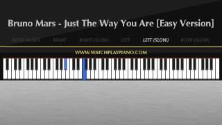 Bruno Mars - Just The Way You Are [Easy Piano Tutorial]