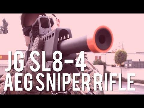 AirSplat OD - JG SL8-4 Airsoft Sniper AEG Rifle 6689 Ep 137