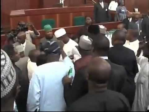 Nigerian Legislators Fight On The House Floor video