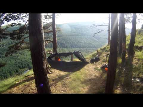 Solo Wild Camping  - Wicklow Ireland - Hammock and Tarp - June 2013