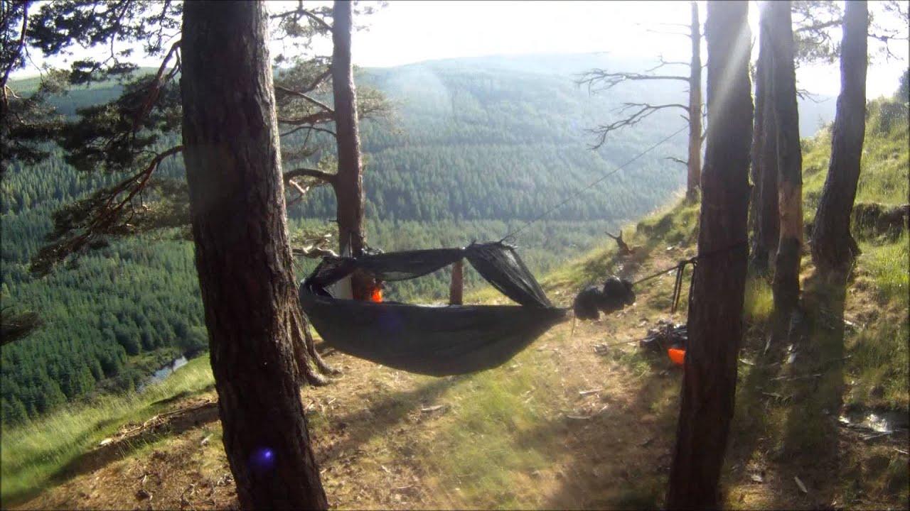 Solo Wild Camping - Wicklow Ireland - Hammock and Tarp ...
