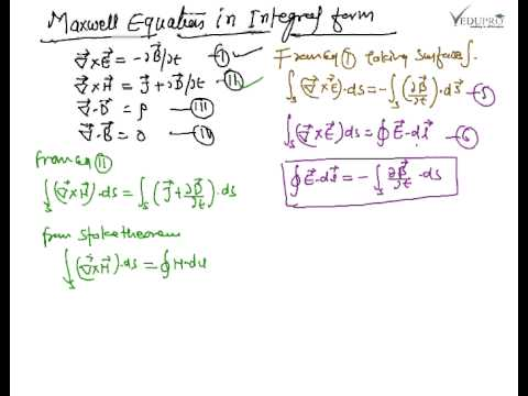 Equation Integral Maxwell Equations in Integral