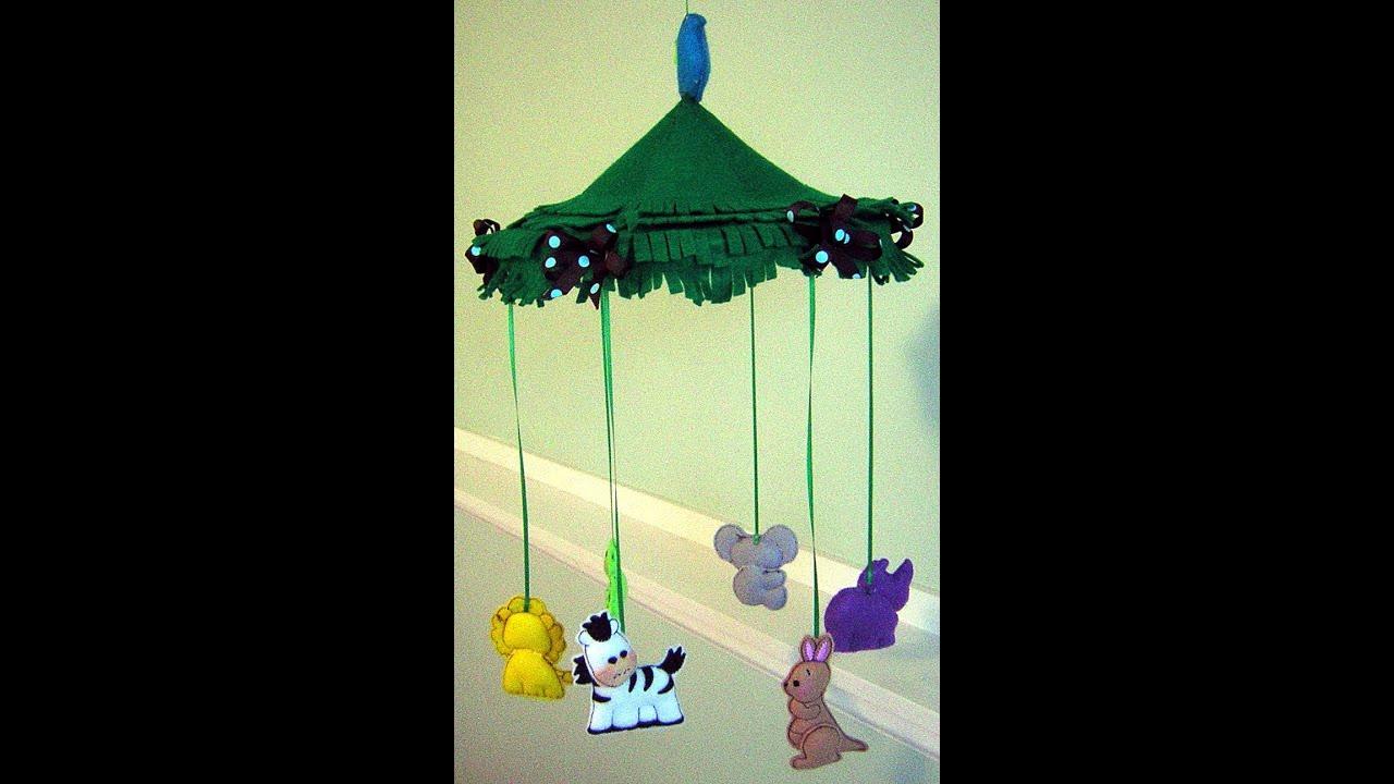 How to Make the Jungle Animals Crib Mobile 0001 - YouTube