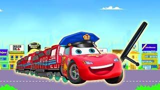 Disney Cars 3 Lightning McQueen Police Car Learn Colors & Finger Family Rhymes Song for Children