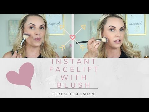 Instant Facelift with Blush    Essential blush placement for all face shapes- Elle Leary Artistry