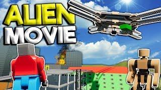 LEGO CITY VS ALIEN INVASION MOVIE! - Brick Rigs Gameplay Roleplay - Lego Alien Movie