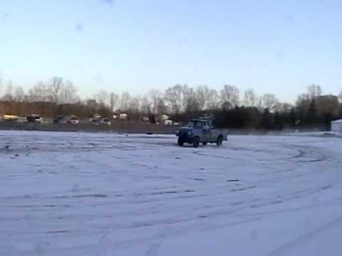 Truck Jumping Snow Bank - Broken Back