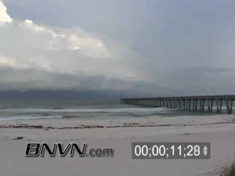 7/9/2005 Hurricane Dennis Video, Part 6. Time-lapse Video Pensacola Beach, FL.