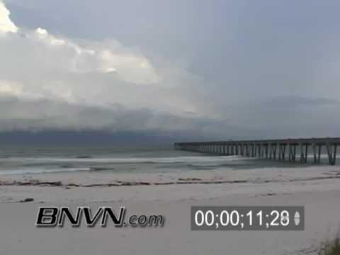 7/9/2005 Hurricane Dennis Video, Part 6. Time-lapse Video Pensacola Beach, FL