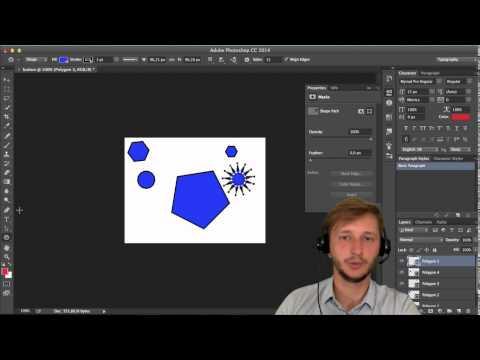 Видео как нарисовать прямоугольник в Фотошопе