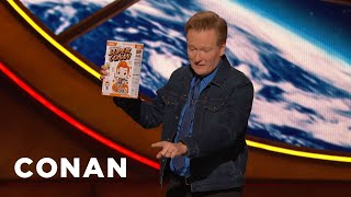 A #ConanCon Audience Member Assaults Conan With A Cereal Box - CONAN on TBS
