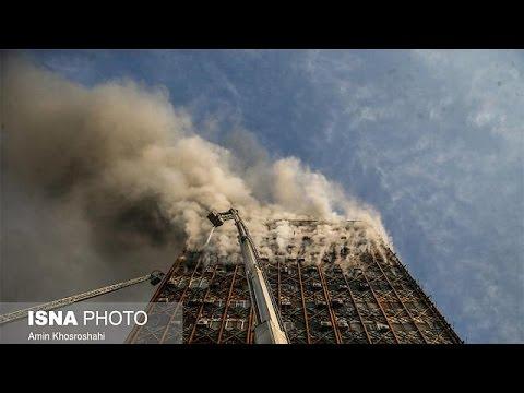 Al menos 30 muertos al derrumbarse un edificio en llamas en Teherán