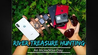 River Treasure: Found iPhone X, GoPro Hero 5 & Apple Watches Underwater (iPhone Returned to Owner)