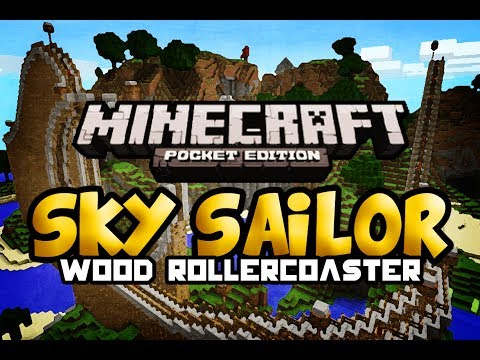 Sky Sailor   Massive Wooden Rollercoaster   Minecraft Pocket Edition   Map Review