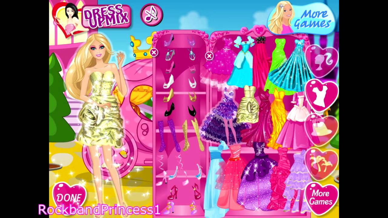 Barbie Dress Up Games For Girls And Kids - YouTube