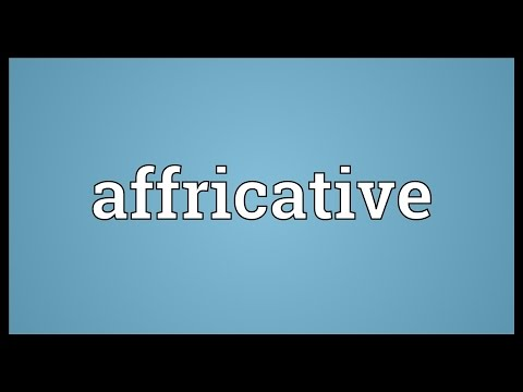 Header of affricative