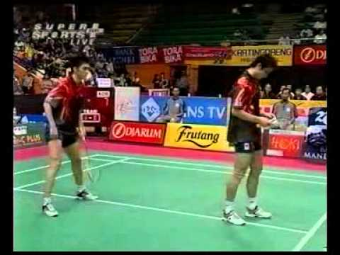 Badminton Classic Crazy Doubles Fu Hai Feng Cai Yun vs Kim Dong Moon Lee Dong Soo Thomas Cup [1/2]