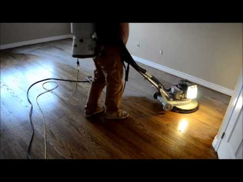 How it s done - Sanding, Staining, Varnishing Hardwood Floor