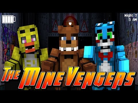 Minecraft MineVengers - FIVE NIGHTS AT FREDDY'S w/ Little Kelly & Tiny Turtle