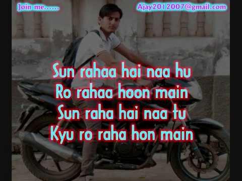 Sun Raha Hai Na Tu Aashiqui 2 Karaoke Free By Ajay Singh video