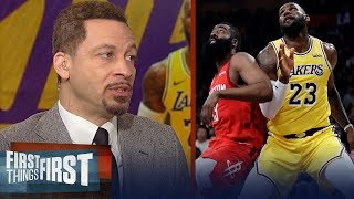 Chris Broussard: LeBron was 'fantastic' in the Lakers' win over Rockets | NBA | FIRST THINGS FIRST