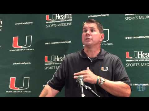 UM Hurricanes Football Media Day: coach Al Golden