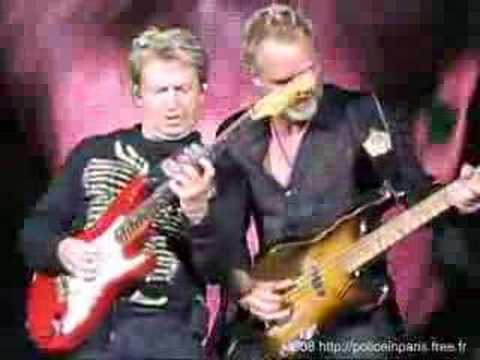 The Police So Lonely Live in Marseille 2008 1st row 1er rang Andy Summers Solo