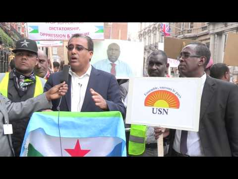 USN UK Demonstration against the Djibouti Government