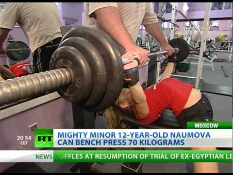 Girl Power-lifting: Amazing 12-year-old bench presses 70 kilos Image 1