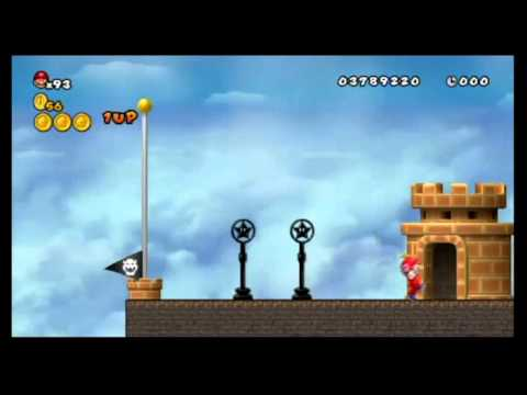 Newer Super Mario Bros. Wii 100%: World C - Sky City